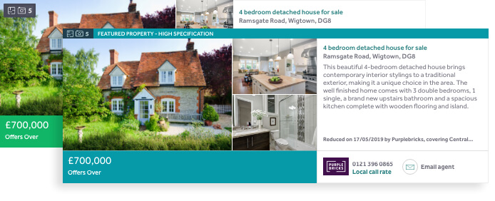 Rightmove ad example - Featured Property & Premium Listing