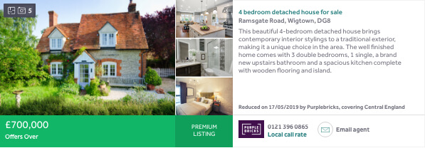 Rightmove ad example - Premium Listing