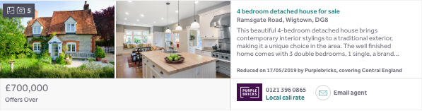 Rightmove ad example - Standard Listing